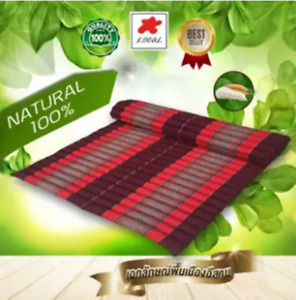 Reddish brown  Kapok100%Thai Roll  Mat Fold Mat Meditatation Cushion Size XL