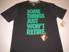 "Nike ""Some Things Won't Retire"" T-Shirt Black Men's Large BNWT FREE SHIPPING!"
