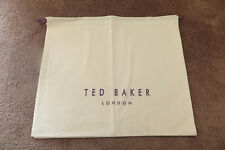 Ted Baker Medium Cream Cotton Drawstring Storage Dust Bags New H14.5 x W18""