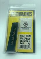 MAKAROV RUSSIAN MAGAZINE 9X18 MAK 8 ROUND RD STEEL BLUED MAG CLIP