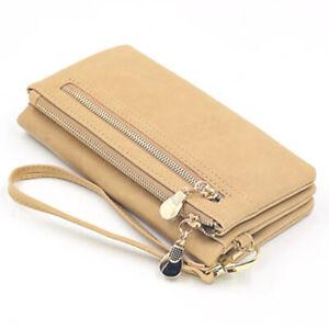 New Ladies Leather Wallet Long Purse Card Phone Holder Case Women Clutch Handbag