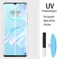 Full Glue Screen Protector For Huawei P30 /Mate 20 Pro UV Tempered Glass Film Sy