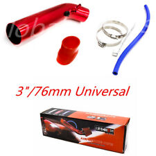 "Universal 3"" Car Cold Air Intake Alumimum Pipe Induction Kit Pipe Hose Exterior"