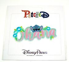 Disney Park Authentic✿Stitch Ohana Hawaii Flowers Embroidered Removable Patch