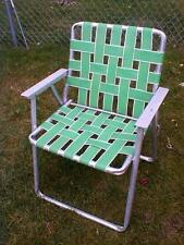 Vintage multicolor Aluminum WEBBING Folding Lawn Chair Beach Camping Retro Patio