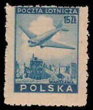 Scott # C15 - 1946 - ' Douglas Plane over Ruins of Warsaw '