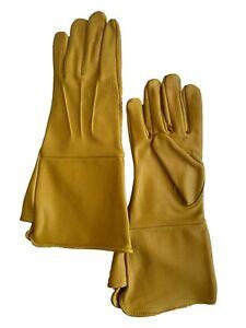 Men Leather Medieval Halloween Costume Gauntlets Gloves Biker Driving Long Cuff