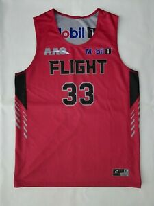Champro Sports XL Reversible Basketball Jersey Red Gray 33 AAO Flight Mobil 1