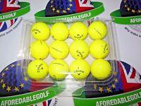 12 CALLAWAY SUPERSOFT OPTIC YELLOW PEARL/PEARL 1 GRADE GOLF BALLS