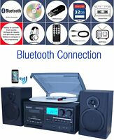 Boytone BT-28SPB Bluetooth Classic Turntable Stereo CD Cassette SD BT-28SPB
