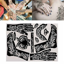 Reusable Temporary Tools India Henna Template Hand Body Art  Tattoo Stencils~
