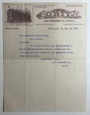 Antique Letterhead, Grit Publishing Co., Williamsport Pa. 1905, Odd Fellows Bldg