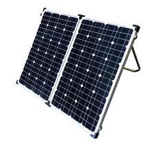 160w Folding Solar Panel Kit 12v Mono Caravan Boat Camping Power Battery
