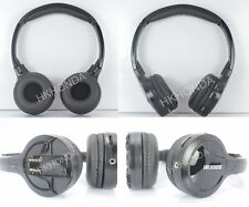 2pc NEW Wireless IR DVD Headphones Monitor Roof headrest Sound Headsets For BMW
