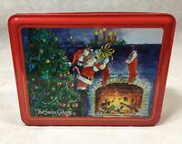 The Swiss Colony Tin Finest Chocolates Christmas Tree Stockings Fireplace