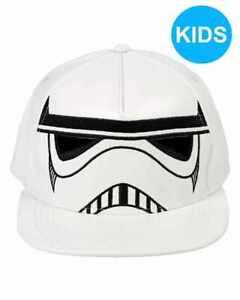 STAR WARS STORMTROOPER MASK/ HELMET PU WHITE SNAPBACK CAP [KIDS] [OFFICIAL]