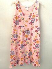 Fresh Produce Pink Floral Sleeveless Cotton Shift Dress Women's XL