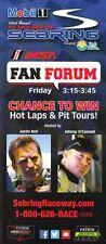 2014 Johnny O'Connell/Justin Bell Sebring Fan Forum IMSA TUSC postcard