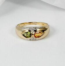 giocoso Anello in oro 585 con citrino e Peridoto