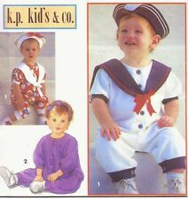 Vintage Girl's & Boy's Sailor Romper Hat & Headband Sewing Pattern UNCUT Sz 2-4