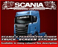 Scania A Passion for power Lorry Truck windscreen sticker Glass Cab Window v8 R