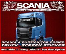 Scania pasión por la energía Camión Camión Parabrisas Pegatina de cristal de la ventana de cabina v8 R