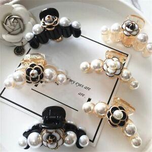 Decorative Hair Clips Girls Headwear Jewelry Luxury Pearl Christmas Accessory