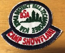 BOY SCOUTS CAMP SNOWFLAKE KIA KIMA DISTRICT 1972 FALL CAMPOREE  PATCH  NEW