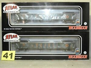 SET OF TWO ATLAS HO SCALE EVANS 52' MAINE CENTRAL GONDOLA NEW