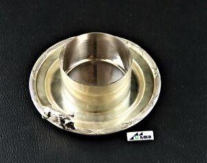 Caviar / jam bowl with animal miniature (1) - .950 silver - France -