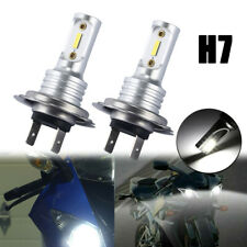 2x H7 Motorcycle LED Headlight Bulb Kit High/Low Beam 30W 3600LM 6000K White CSP