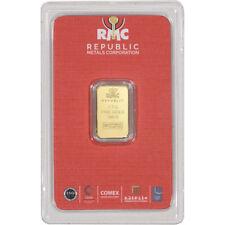 2.5 gram RMC Gold Bar - Republic Metals Corp - 999.9 Fine in Sealed Assay
