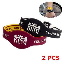 NBA LeBron James Wristband Bracelet Silicone Wrist Band Rubber King James 2pcs
