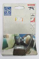 LUX TOOLS 103 075 spazzola metallica a tazza ottone ø 50 mm x legno metallo rame