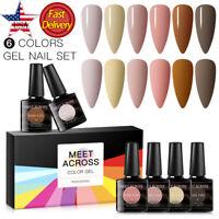 6 Colors/Set 8ml Soak Off Pure UV/LED Gel Nail Polish Varnish Manicure Kit Salon