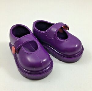 "Shoes for 18"" Our Generation or American Girl Doll Mary Janes Dark Purple"