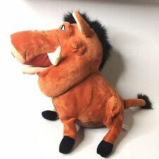 """Disney Parks The Lion King Pumbaa 16"""" Plush Stuffed Animal Warthog Toy"""