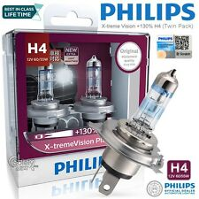 Genuine Philips H4 12V 60/55W X-treme Vision Plus Pair Car Headlight Bulb Lamp