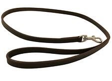 NEW HAND-CRAFTED BROWN LEATHER DOG LEASH LEAD TRAINING LONG CLIP RRP £19
