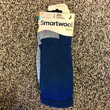 NEW Smartwool Mens Hike Merino Wool Crew Socks - Medium Cushion - Blue - Large
