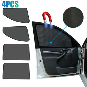 4* Car Window SunShade Cover Mesh Shield UV Protection Car Accessories Magnetic