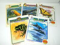 Lot 5 Vintage 1990 Science Safari Series Wipe Clean Surface Activity Books