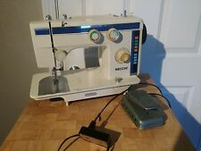 Necchi 884 FB Heavy Industrial Sewing Machine Zigzag w/Case Manual Made In Japan