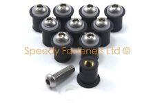 10x Ducati Well Nuts Wellnuts m6 6mm Fairing Rawl Nut 12mm OD + Stainless Bolts