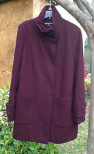 Kenneth Cole New York Women's Twill Wool Coat, Burgundy, Size 8, MSRP $248