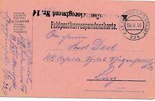Nr 10370 Feldpostkarte K.u.K. IR 14 Linz Hessen Fp 324 Tirol Erzherzog Eugen