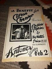 ANTONE'S 1980 LIGHTNIN HOPKINS & BIG WALTER PRICE ORIGINAL POSTER 11 X 17