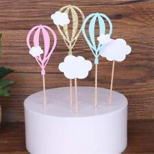 Three-Color Hot Air Balloon Clouds Shape Cake Topper Birthday Party Cake Decor