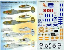 AEROMASTER 48-382 - DECALS 1/48 - LIGHTNINGS IN THE SKY Pt. IV