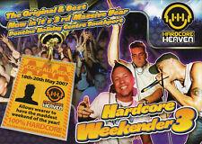 HARDCORE HEAVEN WEEKENDER 3 PRE FLYER Classic Rave Flyer